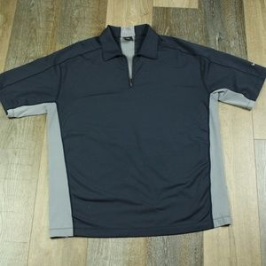 Nike Mens Golf Polo Blue / Gray L , Front Zipper